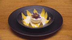 Passion flower with white chocolate mint petals and passion fruit and coconut center