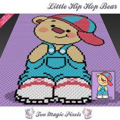 357cb069549a Little Hip Hop Bear crochet blanket pattern  c2c