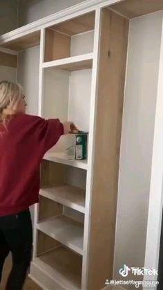 Diy Closet Shelves, Diy Closet System, Closet Redo, Closet Built Ins, Build A Closet, Bedroom Closet Design, Master Bedroom Closet, Closet Designs, Closet Storage