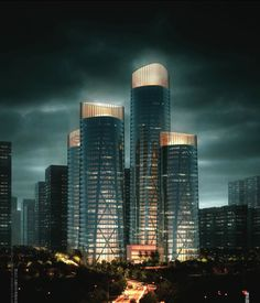 Chongqing Business Center Proposal by United Design Group (Design Team: Hu Wei, Feng Hai Hua, Wu Shan Shan) / Chongqing, China