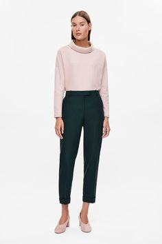 COS image 9 of Oversized roll-neck top in Rose Pink