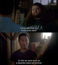 Hurley and Jin/Jerry and Chin, funny, Lost, HI50 quotes.