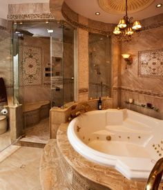 Dream bathroom... I might never want to leave that tub!