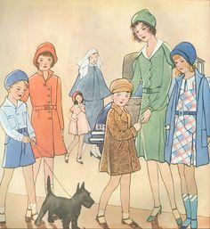 McCalls 1930 childrens fashions.