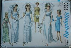 Simplicity 6823 1960s 60s Mod Wedding Dress by EleanorMeriwether
