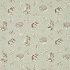 Buy Squirrel & Hedgehog Fabric from the Woodland Walk Collection by Sanderson, featuring woodland animals printed in charcoal on an eau de nil ground. Room Wallpaper, Fabric Wallpaper, Pattern Wallpaper, Woodland Creatures, Woodland Animals, Curtains Uk, Sanderson Fabric, Matching Wallpaper, San Antonio