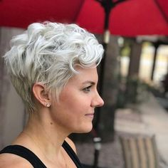 Short Hairstyles For Women 2019 – Mantra Hair – - Weißes Haar Curly Hair Cuts, Wavy Hair, Short Hair Cuts, Curly Hair Styles, Long Hair, Choppy Hair, Pixie Cuts, Thick Hair, Ombre Hair