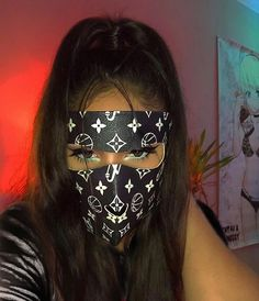 Neon glowing half face mask, anonymous at the party, good original gift surprise, balaklava, cosplay Boujee Aesthetic, Badass Aesthetic, Bad Girl Aesthetic, Aesthetic Grunge, Aesthetic Pictures, Estilo Gangster, Gangster Girl, Fille Gangsta, Thug Girl