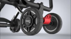 Details we like / Omni Rider / Foldable Buggy / Wheel detail / Red Button / at neuerdings