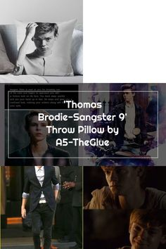 Thomas Brodie-Sangster 9 Throw Pillow