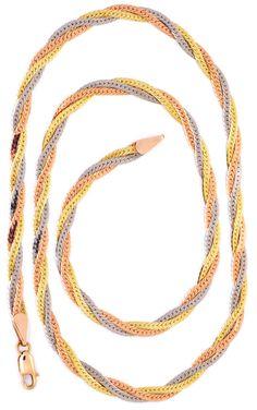 Foto 2, Goldkollier Gelbgold Rotgold Weissgold 14K/585 Shop Neu, K2983