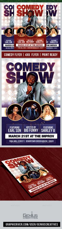Comedy Night Flyer Template A good way to promote your Comedy