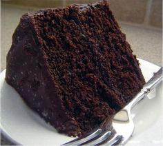 Recipes From The Big Blue Binder: Double Chocolate Layer Cake