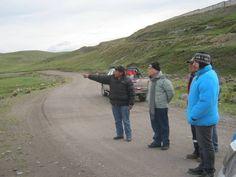 Trabajo de campo, visita al proyecto Mina Corani, de BCMC. Mayo 2012.