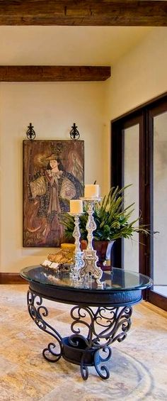 Tuscan style decor for the foyer ❤