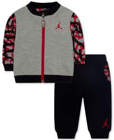 f89ffe2c3f111a Jordan Baby Boys  2-Piece Fly Jacket   Pants Set   Reviews - Sets   Outfits  - Kids - Macy s