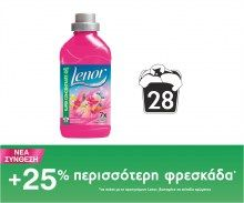 Μαλακτικό Lenor  Wild Flower Bloom 28 μεζούρες Fiji Water Bottle, Drinks, Drinking, Beverages, Drink, Beverage