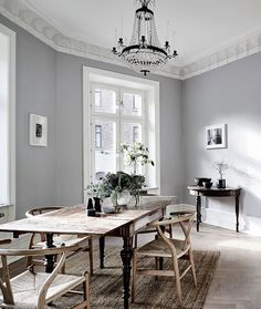 Get To Know The Best Scandinavian Living Room Design Ideas Living Room Scandinavian, Scandinavian Interior, Home Interior, Interior Decorating, Decorating Ideas, Scandinavian Style, Minimalist Dining Room, Minimalist Kitchen, Grey Walls