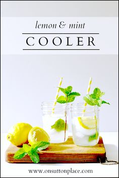 This Lemon Mint Cooler Summer Drink is perfect for entertaining or for just a few. It's fast, refreshing and so pretty!