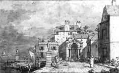 Giovanni Antonio Canal ( Canaletto ) 17th century Render Guy