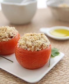 Look Who's Cooking Too: Cous-cous stuffed tomatoes
