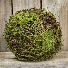 Natural Dried Vine Twig Ball Moss Flocking Country Primit...