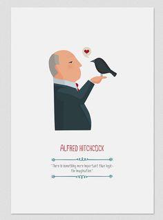 Alfred Hitchcock by Tutticonfetti