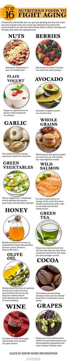 Mentioned below are the top 10 foods that will enhance your health and reduce the signs of aging.