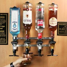 Alcohol Bottles, Kitchen, Cuisine, Kitchens, Stove, Cucina