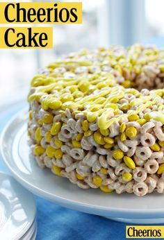 No-bake Cheerios Cake for Easter! Easy enough for the kids to help. For more variety, try making with one of our gluten free Cheerios flavors including Original, Honey Nut, Apple Cinnamon, Frosted, and Multi Grain.