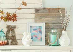 Your going to love this beautiful fall home tour full of fresh crisp colour at thehappyhousie.com-10