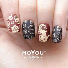 60 best moyou zodiac sting nail images on New Year's Nails, Hair And Nails, Asia Nails, Asian Nail Art, New Years Nail Art, Vacation Nails, Stamping Nail Art, Nail Decorations, Cool Nail Designs
