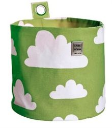 Green Moln Cloud Hang Storage for Nursery or Child's room by Farg Form