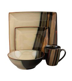 Charmant Sango Avanti Dinnerware   Black   Set Of 16   The Striking Sango Avanti  Dinnerware   Black   Set Of 16 Is A Marriage Of Contemporary Style And  Rustic Charm.
