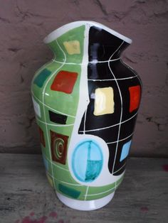 Catawiki, pagina di aste on line  Nino Strada Deruta - vase in ceramic model Arlecchino