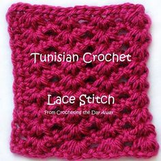 I'm really excited to show you this Tunisian Crochet stitch today. It's called the Tunisian Lace Stitch. It's a lot more open and has a different look compared to the others I have shown you so far…