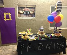 My son's Birthday party. Friends TV show theme. - Jennifer Smith - My son's Birthday party. Friends TV show theme. My son's Birthday party. Friends TV show theme. 50th Birthday Party Decorations, Graduation Party Themes, 13th Birthday Parties, 19th Birthday, Birthday Ideas, Happy Birthday Son, Friend Birthday, Best Birthday Surprises, Friends Tv Show