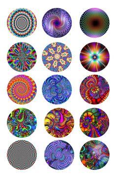 Tye dye bottle cap images
