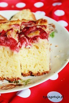 Placek z truskawkami na maślance | Tysia Gotuje blog kulinarny