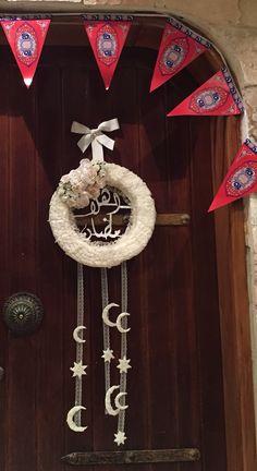 My handmade shabby chic arabic welcome Ramadan wreath