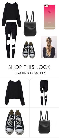 """""""Untitled #161"""" by karenrodriguez-iv on Polyvore featuring Kalmanovich, WithChic, Converse, GRETCHEN and Casetify"""