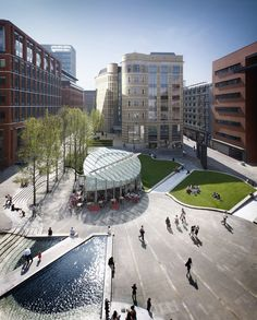 can put pond or continue canal in cultural extension from the holocaust monument Landscape Architecture Design, Architecture Portfolio, Architecture Details, Architecture Diagrams, Brindley Place, Urban Furniture, Street Furniture, Urban Park, Modern Landscaping