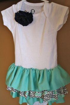 Ruffly Onesie Dress