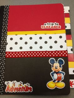 My Disney Planning Book! I used a composition notebook and covered it in… Disney Scrapbook Pages, Scrapbook Albums, Scrapbook Paper, Scrapbooking, Mickey Mouse Classroom, Disney Classroom, Disney Diy, Disney Crafts, Disney Ideas