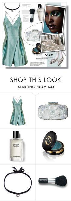 """#214) CALL THE RUNWAY"" by fashion-unit ❤ liked on Polyvore featuring Topshop, Oscar de la Renta, Bobbi Brown Cosmetics, Gucci, DANNIJO, Laura Mercier, NYFW, polyvoreeditorial and newyorkfashionweek"