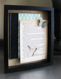 Book and Butterfly Shadow Box DIY..this woman is a genius!