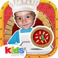 My Little Cook - Les pizzas (Android - IOS) Apprendre de nouvelles recettes de pizzas virtuellement, avant de les réaliser concrètement.