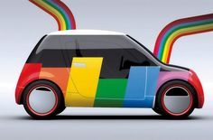 Retro, Little Car, Vehicle Wrap