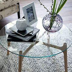 The Middleton glass-topped coffee table, designed by Conran exclusively for M&S