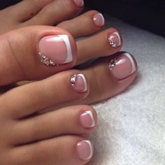 17 Ideas french pedicure designs toenails pretty toes for 2019 Pretty Toe Nails, Cute Toe Nails, My Nails, Gel Toe Nails, Pretty Toes, Acrylic Toe Nails, Pretty Pedicures, Gel Toes, Cute Toes